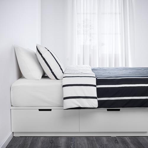 NORDLI lovos rėmas su stalčiais