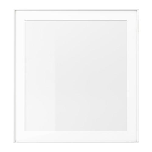 GLASSVIK, stikla durvis 60x64 cm baltā krāsā/stikls