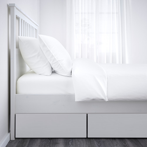 HEMNES каркас кровати с 4 ящиками