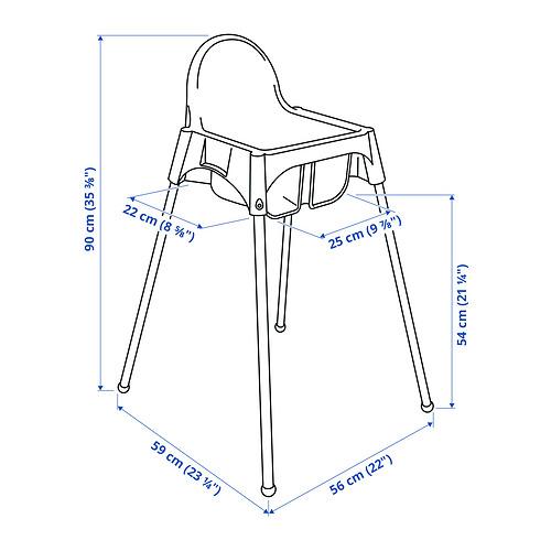 ANTILOP высок стульчик с ремн безопасн