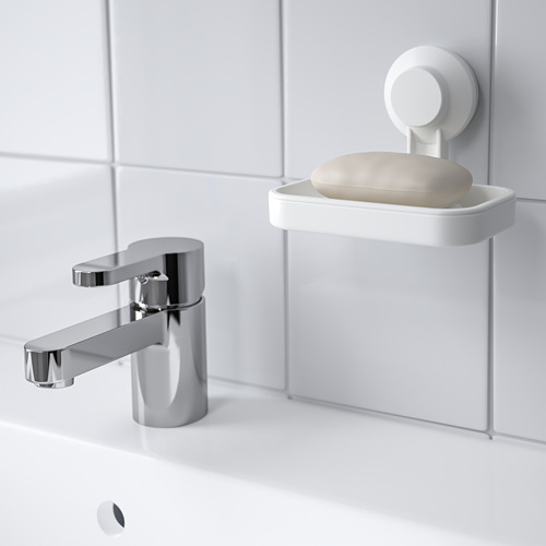 TISKEN soap dish with suction cup