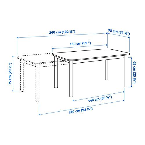 STRANDTORP ištraukiamasis stalas