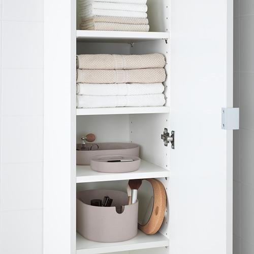 SAXBORGA storage box with mirror lid