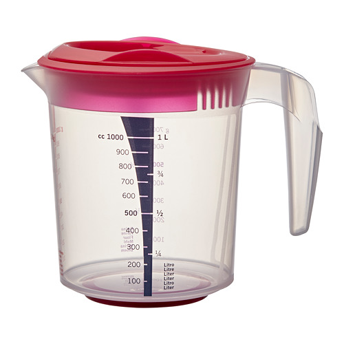 INFRIA jug with lid and citrus squeezer