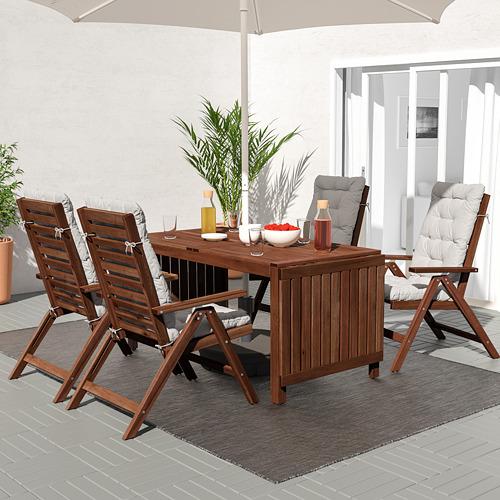 ÄPPLARÖ стол с откидными полами, садовый