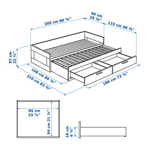 BRIMNES gulta ar 2 atvilktnēm un 2 matr.