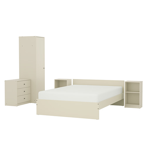 GURSKEN, Guļamistabas mēbeles, 5 vien. gaišā smilškrāsā