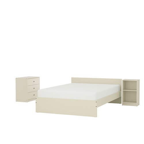 GURSKEN bed frame with headboard