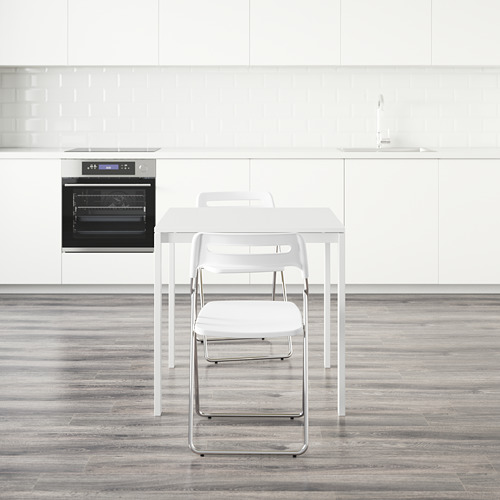 MELLTORP/NISSE стол и 2 складных стула