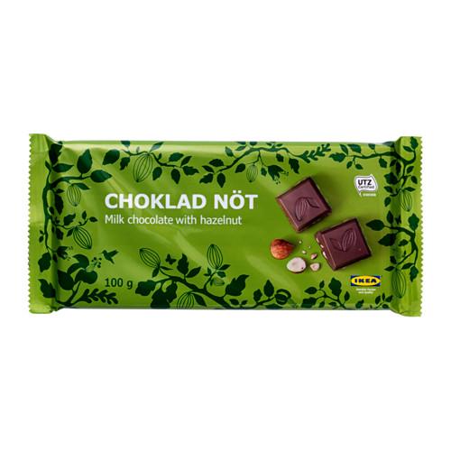 CHOKLAD NÖT milk chocolate bar w hazelnuts