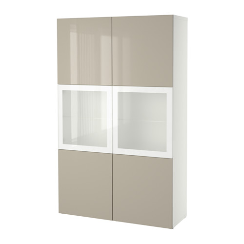 BESTÅ комбинация д/хранения+стекл дверц