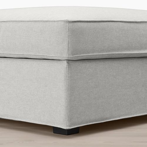 KIVIK footstool with storage