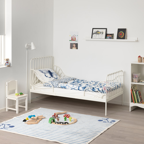 MINNEN ext bed frame with slatted bed base