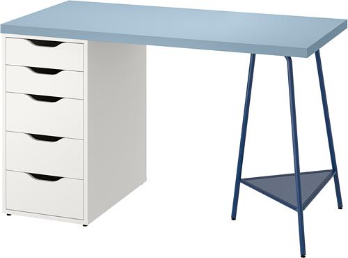 ALEX/LAGKAPTEN, kirjutuslaud 60x120 cm sinine/valge