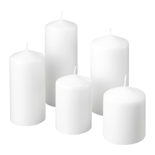 FENOMEN неароматическая формовая свеча, 5шт
