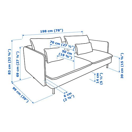 SÖDERHAMN 3-seat sofa