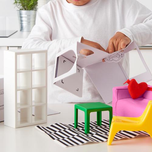 HUSET doll's furniture, living-room