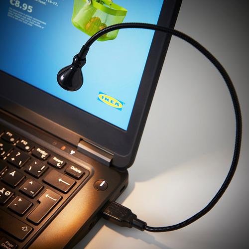 JANSJÖ LED USB šviestuvas