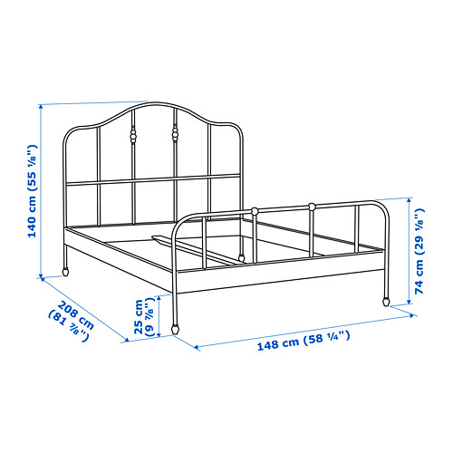 SAGSTUA bed frame