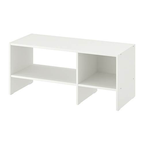 BAGGEBO, TV galdiņš 90x35x40 cm baltā krāsā