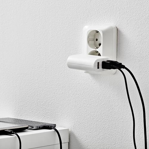 KOPPLA 3 USB-pordiga laadija