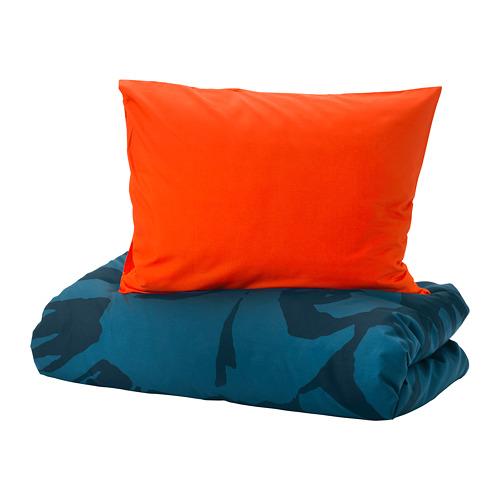 URSKOG quilt cover and pillowcase