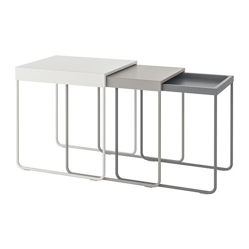 GRANBODA nest of tables, set of 3