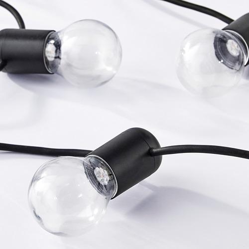 SVARTRÅ LED lighting chain with 12 lights