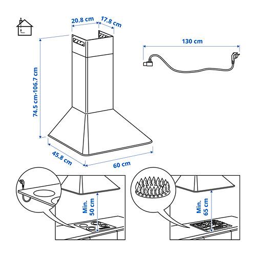 MATTRADITION wall mounted extractor hood