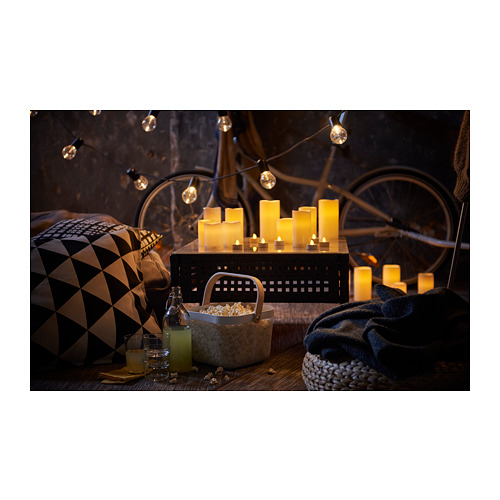 GODAFTON LED block candle in/out, set of 3