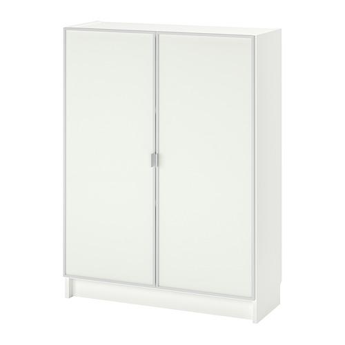 MORLIDEN/BILLY bookcase with glass-doors
