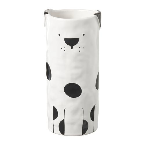 FÅTALIG, vāze 14.5x Ø7 cm suns pienbaltā krāsā