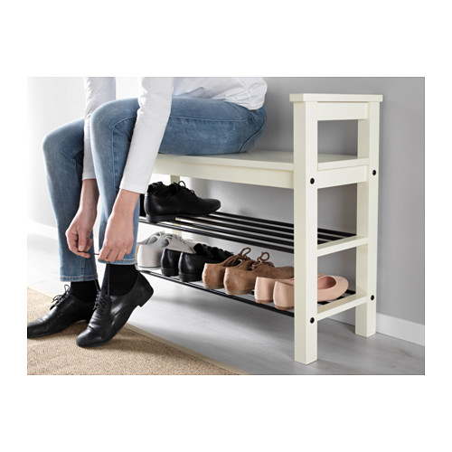 HEMNES suoliukas-batų lentyna