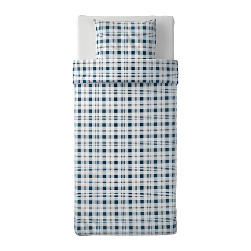 SPIKVALLMO quilt cover and pillowcase