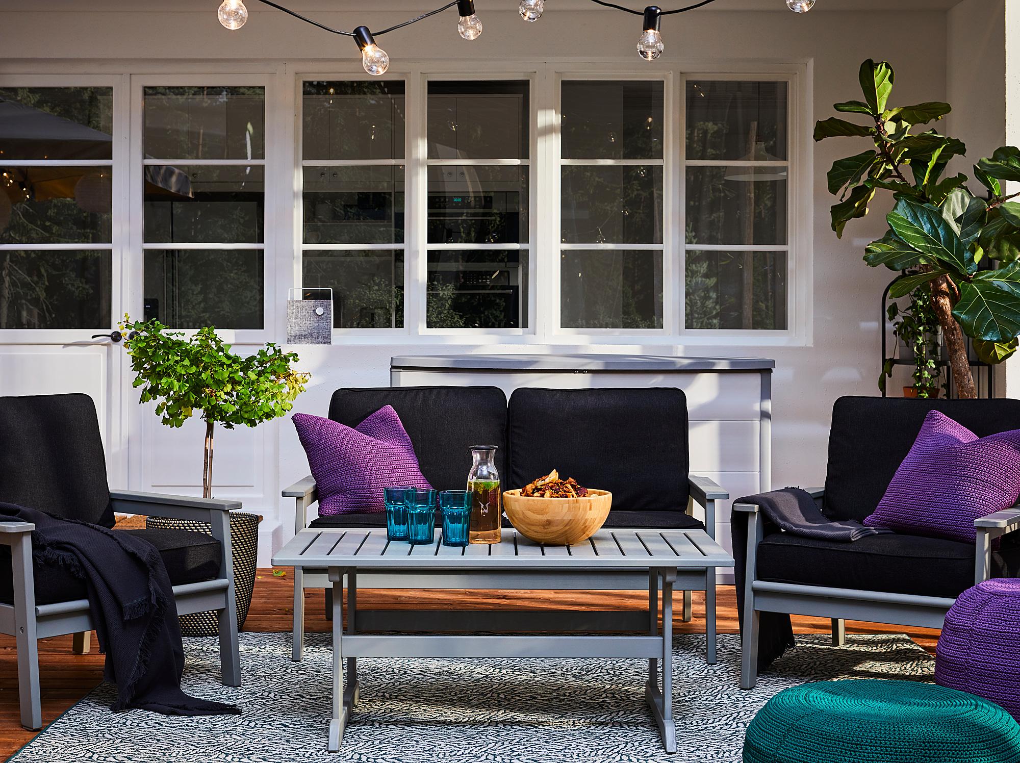 BONDHOLMEN coffee table, outdoor