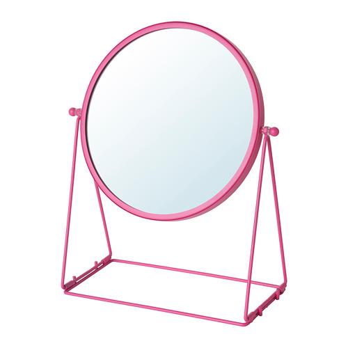 LASSBYN, galda spogulis 20x24x Ø17 cm rozā