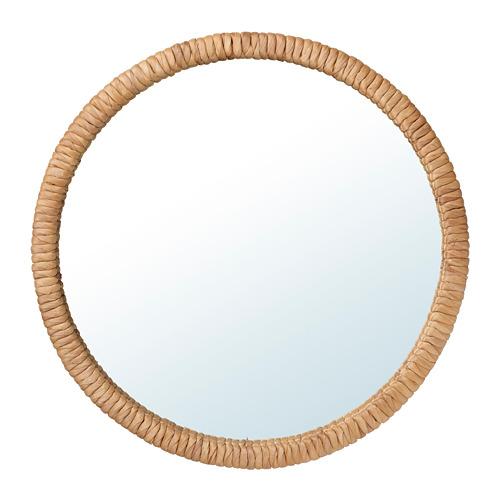 STAFFANSTORP, spogulis Ø50 cm ūdens hiacinte