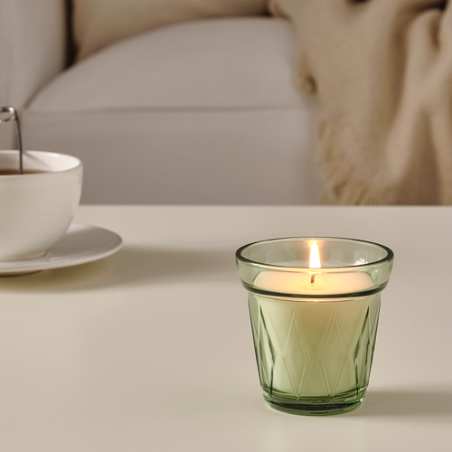 VÄLDOFT scented candle in glass