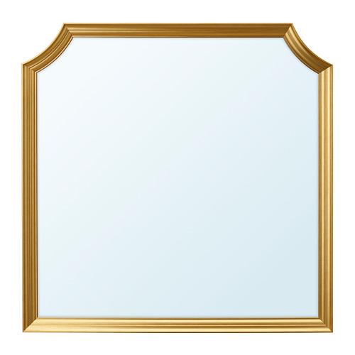 SVANSELE, spogulis 78x78 cm zelta krāsā