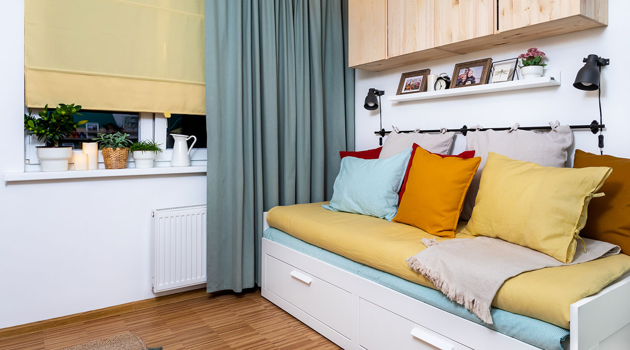 Väikese magamistoa ümberkujundamine