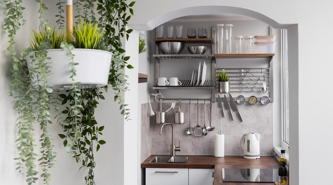 Узкая, очень узкая кухня