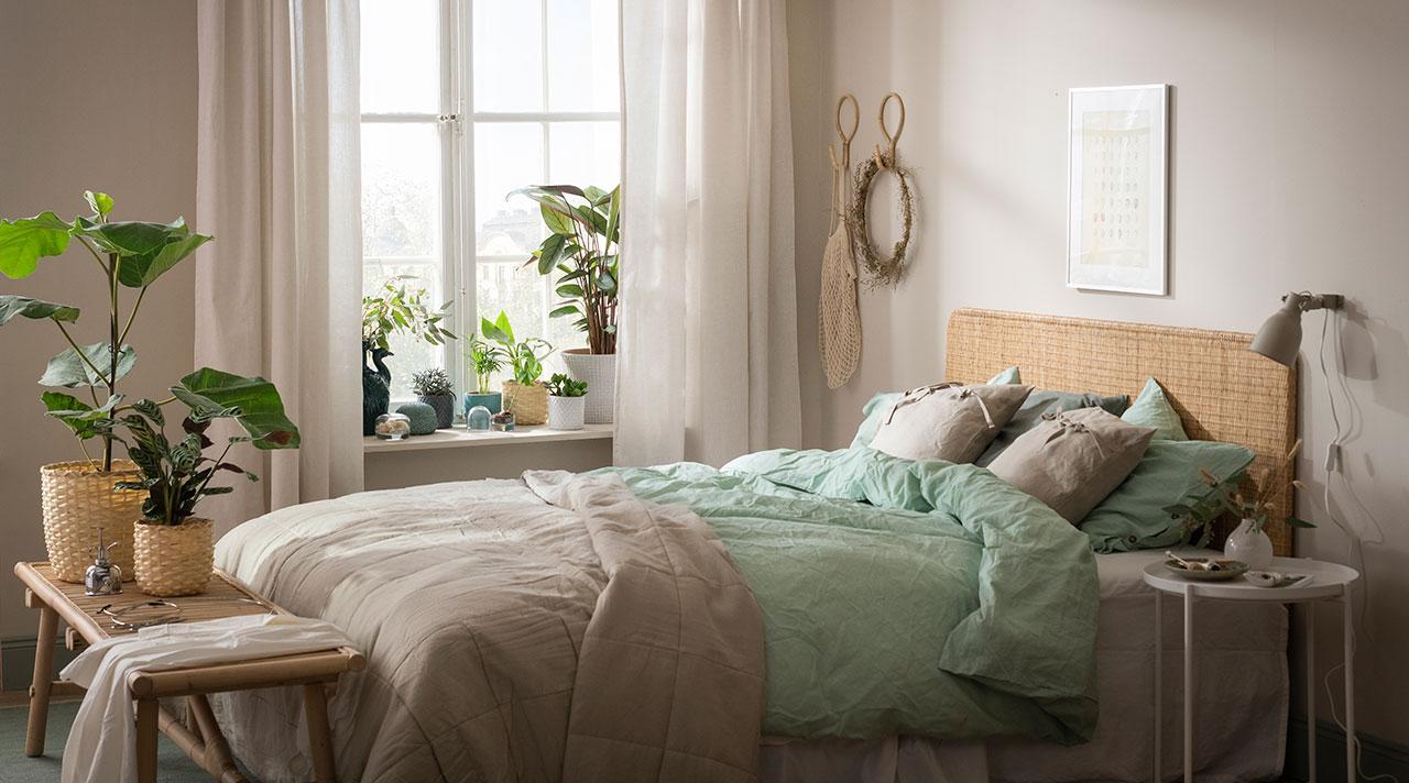 Įsileiskite gamtos spalvas į savo miegamąjį!