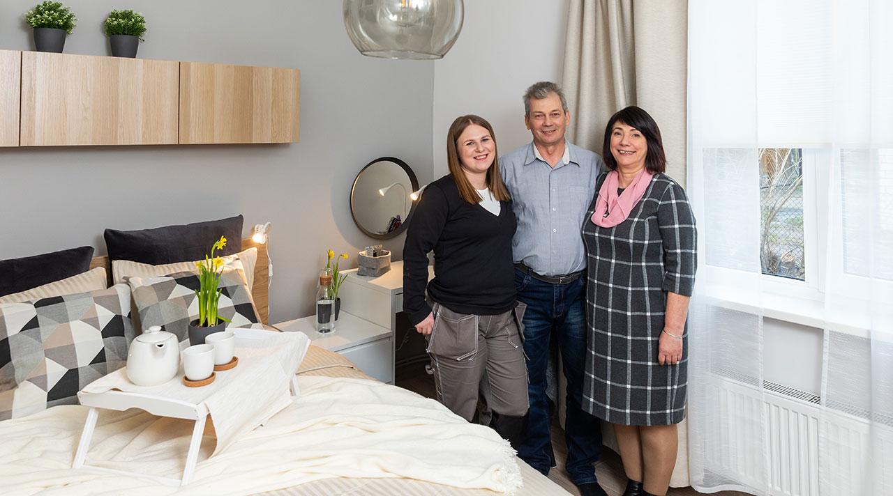 Guļamistabas pārvērtības Jelgavā