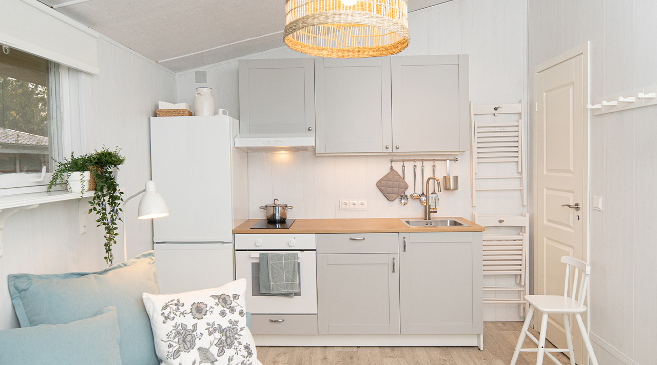 """Home idea with IKEA"": a tiny seaside cottage for a family vacation"""